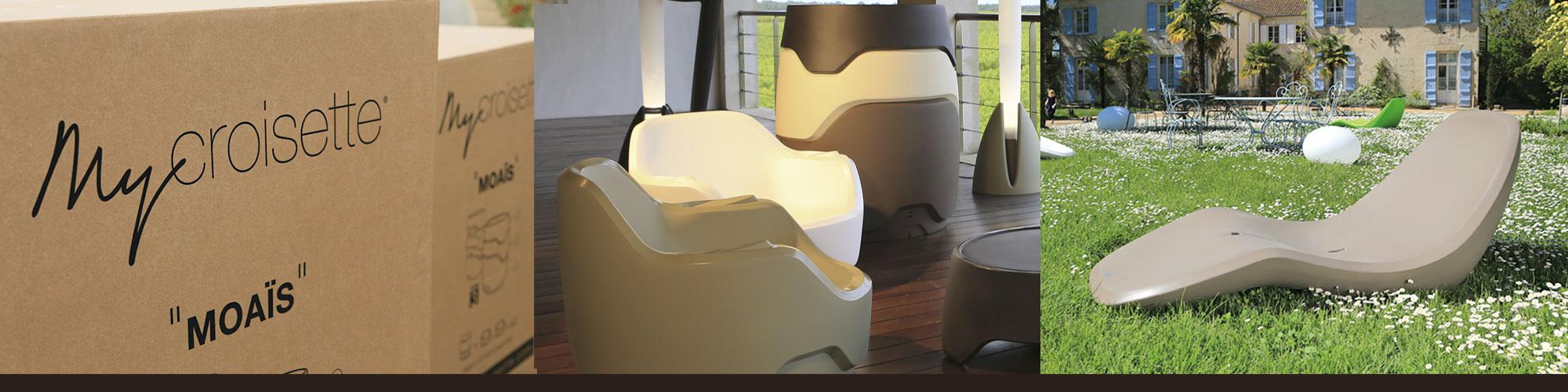 My Croisette est une marque spécialisée dans le mobilier outdoor / Accompagnement ILÔ Créatif : Design de produits et packagings