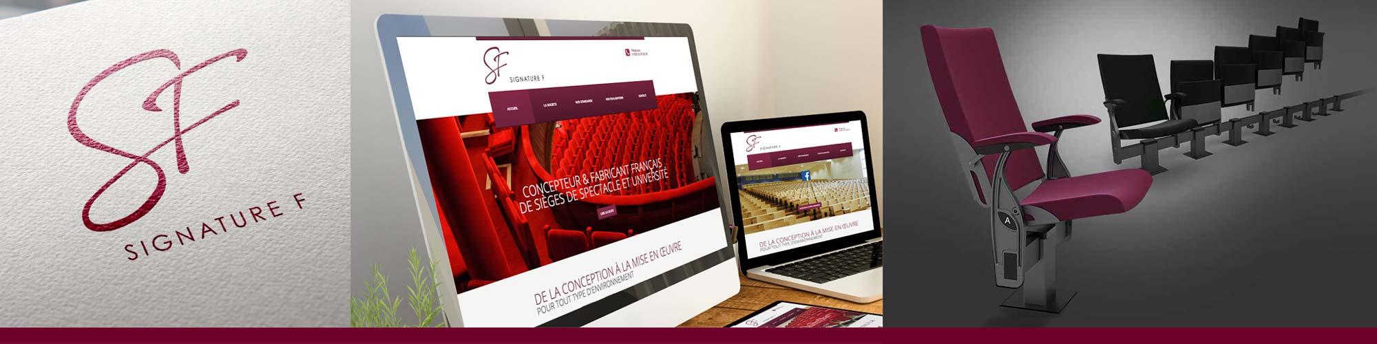 Fabricant français de fauteuils d'amphithéâtre et de cinéma / Accompagnement ILÔ Créatif : Identité, communication print et web, design d'un siège synchrone - 2ème prix TADI 2010